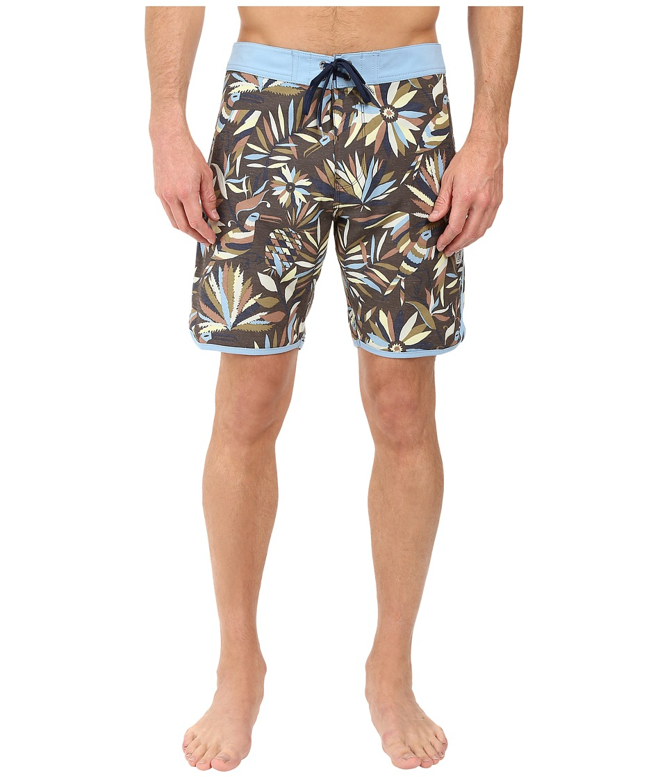 VISSLA - Aloha Amigo 4-Way Stretch Boardshorts 18.5 (Dark Brown) Men's Swimwear