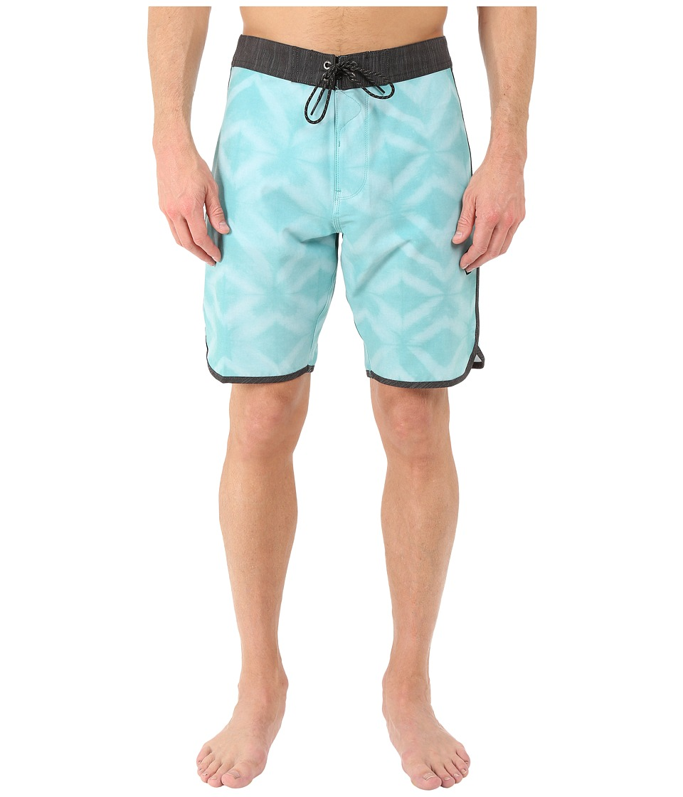 VISSLA - Dye-Mond 4-Way Stretch Boardshorts 20 (Dark Jade) Men's Swimwear