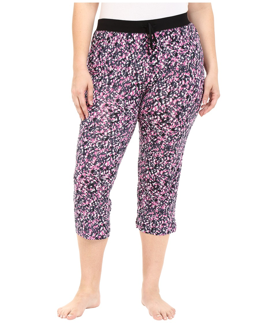 DKNY - Plus Size Black Abstract Capris (Black Abstract) Women's Pajama