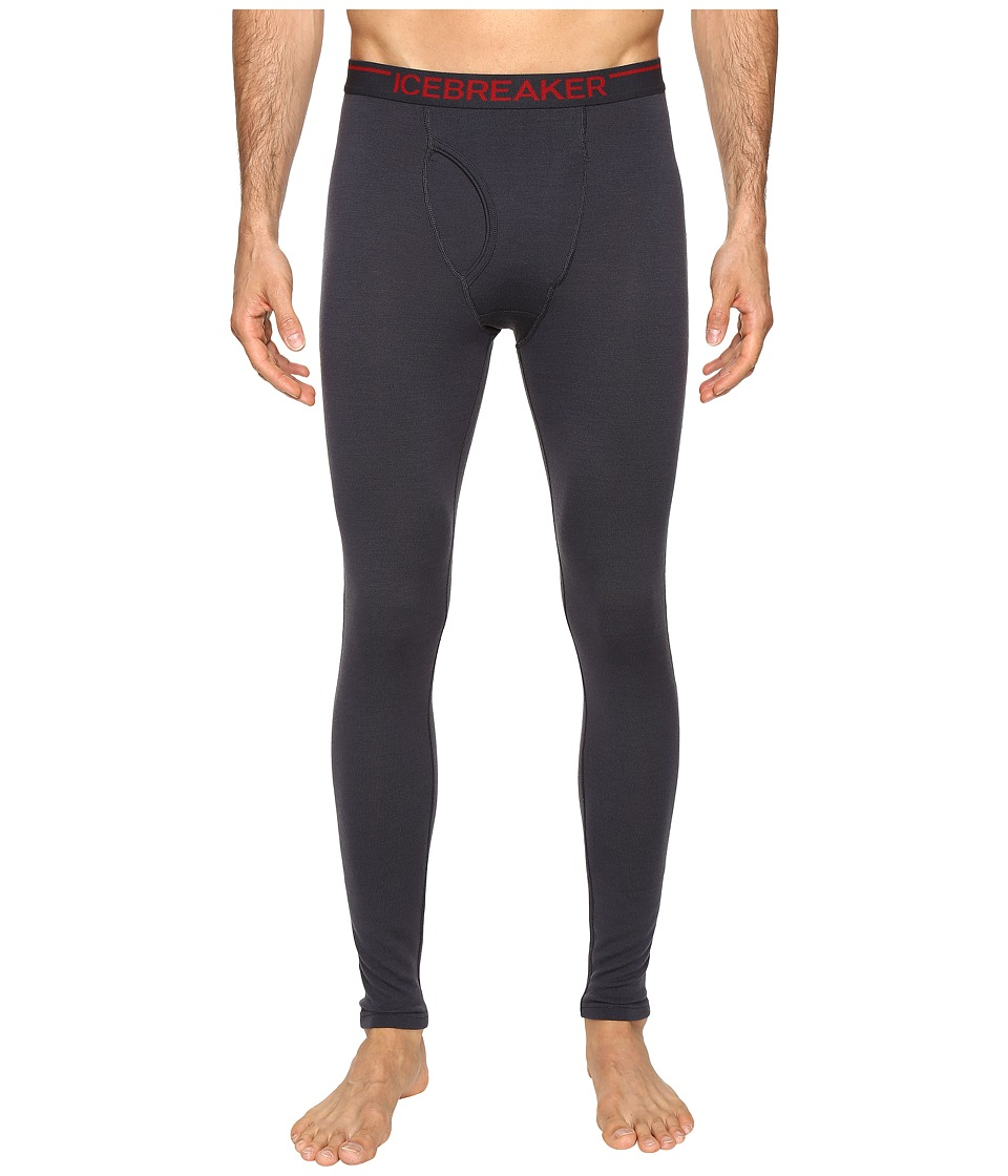 Icebreaker - Apex Leggings w/ Fly (Stealth/Stealth/Oxblood) Men's Clothing