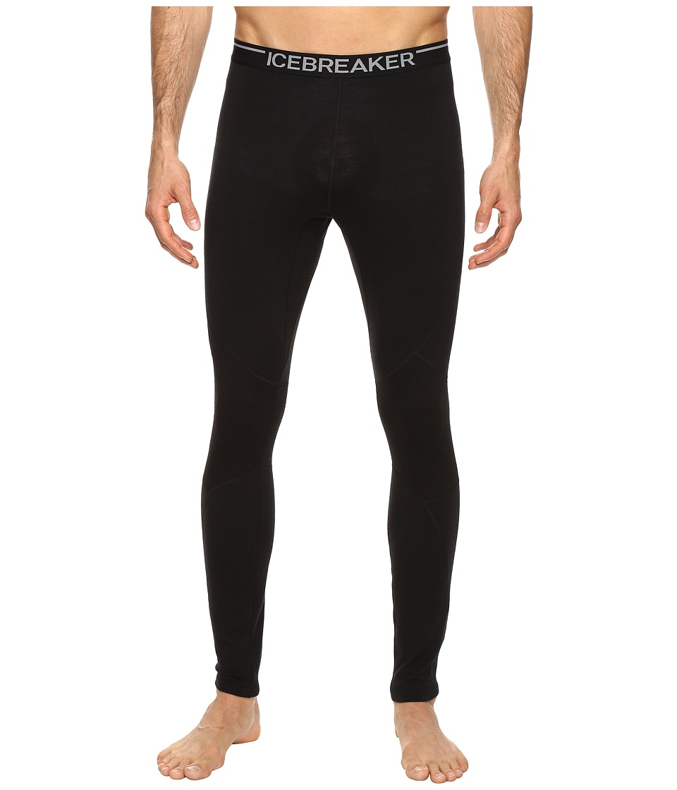 Icebreaker - Winter Zone Leggings (Black/Black/Black) Men's Casual Pants