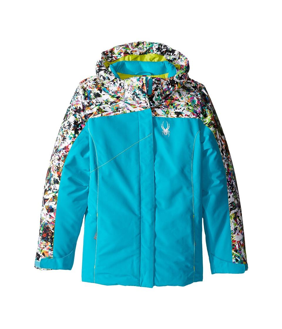 Spyder Kids - Dreamer Jacket (Big Kids) (Bluebird/Kaleidoscope/Acid) Girl's Coat