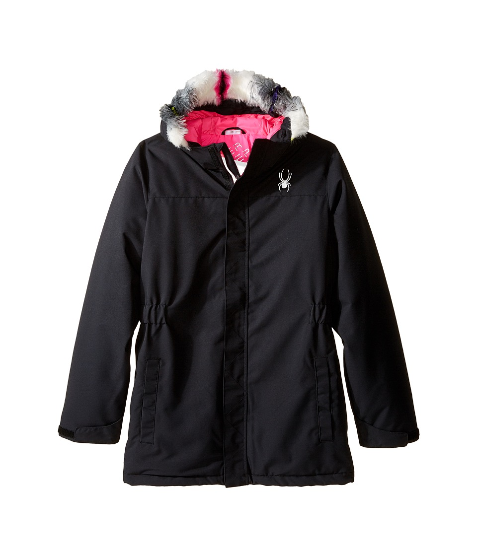 Spyder Kids - Cynch Jacket (Big Kids) (Black/Freeze) Girl's Coat