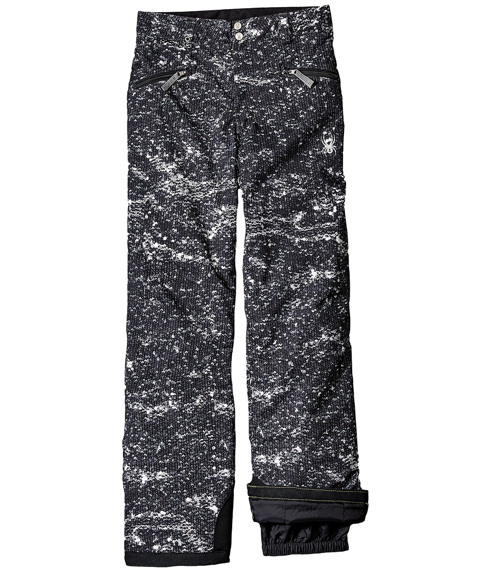 Spyder Kids - Vixen Athletic Pants (Big Kids) (Sequins Black Print) Girl's Outerwear
