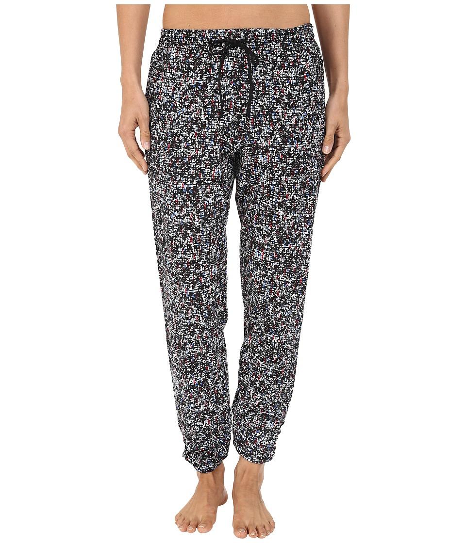 DKNY - Ruched Slub Jersey Capris (White Texture) Women's Pajama