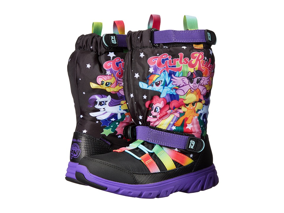 Stride Rite - Made 2 Play My Little Pony Sneaker Boot (Little Kid) (Black/Rainbow) Girl's Shoes