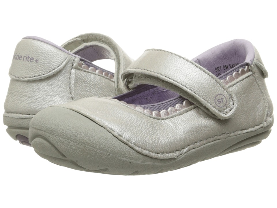 Stride Rite - SRT SM Savanah (Infant/Toddler) (Soft Silver) Girl's Shoes