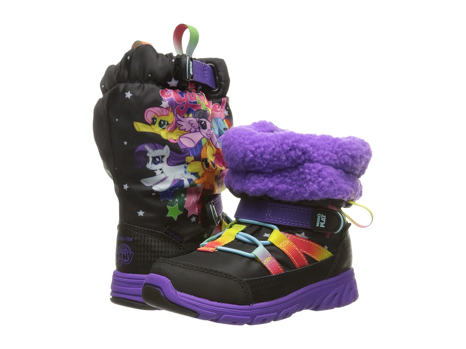 Stride Rite - Made 2 Play My Little Pony Sneaker Boot (Toddler) (Black/Rainbow) Girl's Shoes