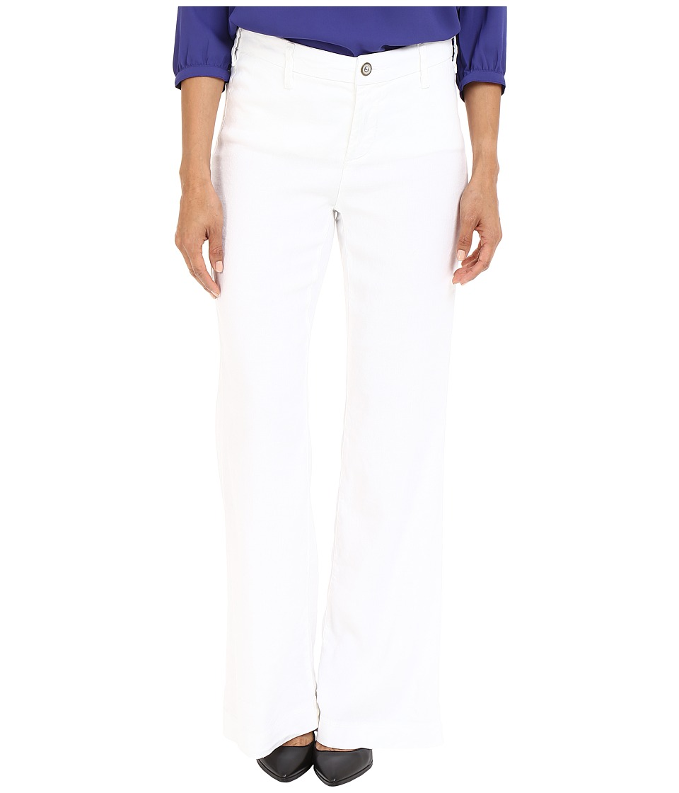 NYDJ Petite - Petite Claire Trousers (Optic White) Women's Casual Pants
