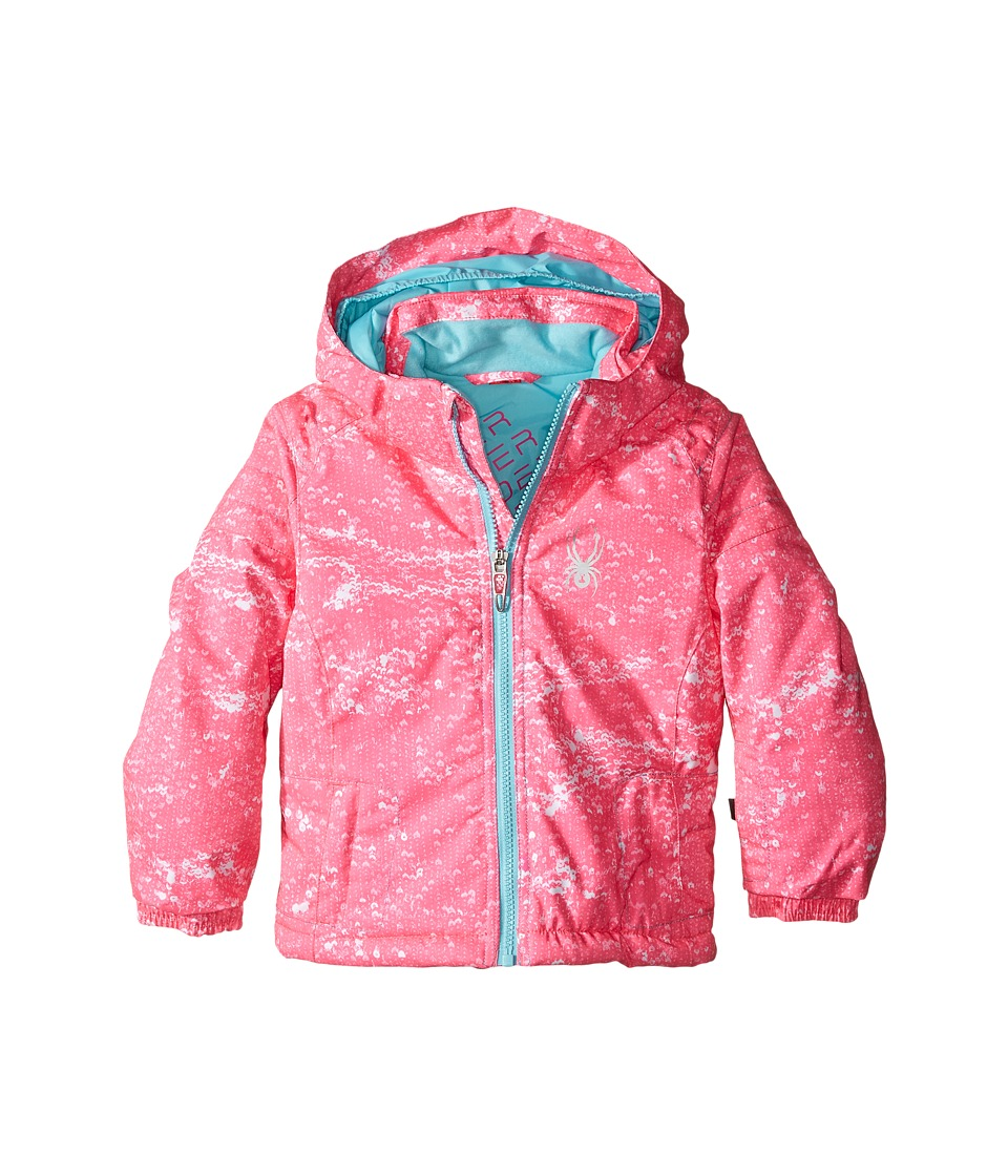 Spyder Kids - Bitsy Glam Jacket (Toddler/Little Kids/Big Kids) (Sequins Bryte Bubblegum/Freeze) Girl's Coat