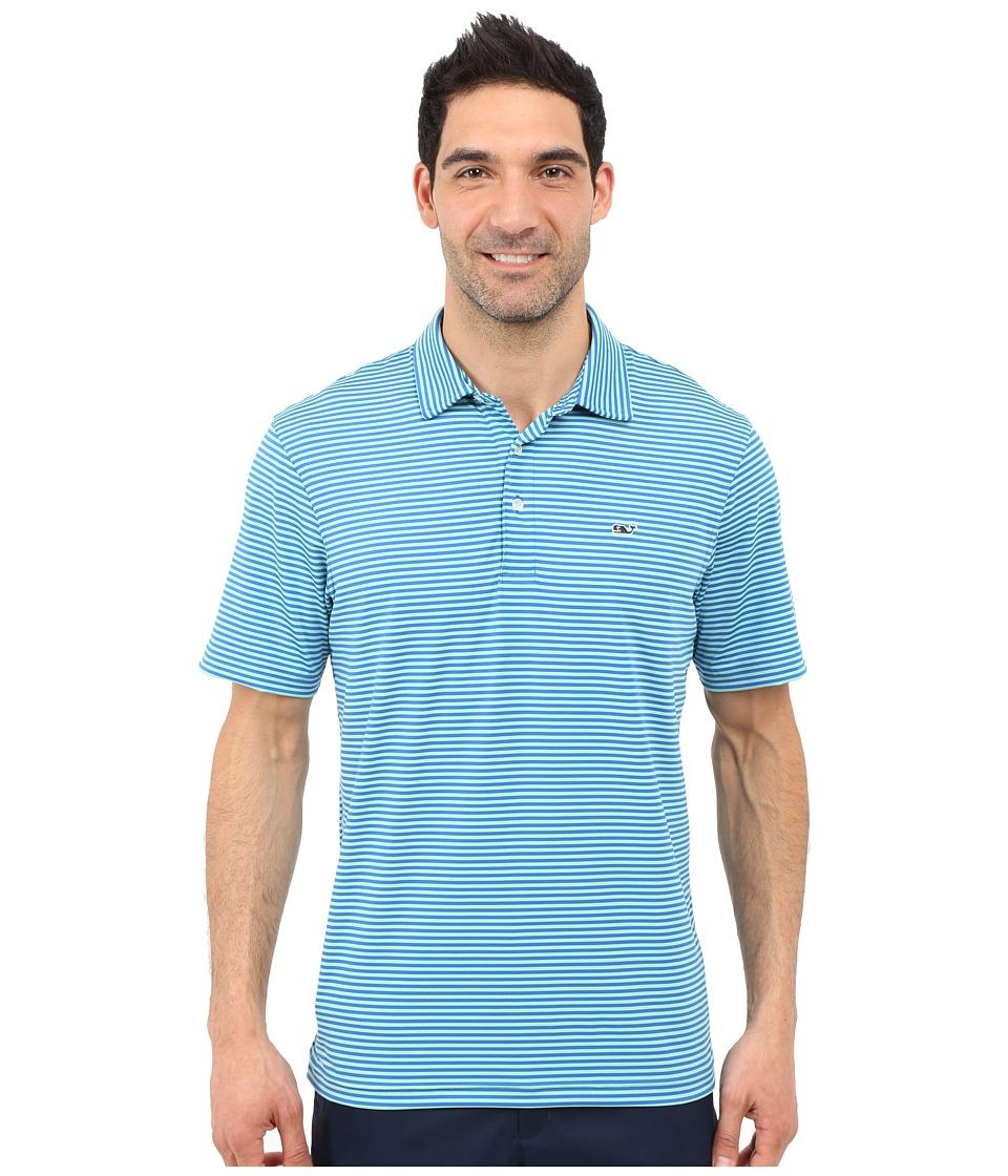 Vineyard Vines - Lag Stripe Performance Polo (Spinnaker) Men's Clothing
