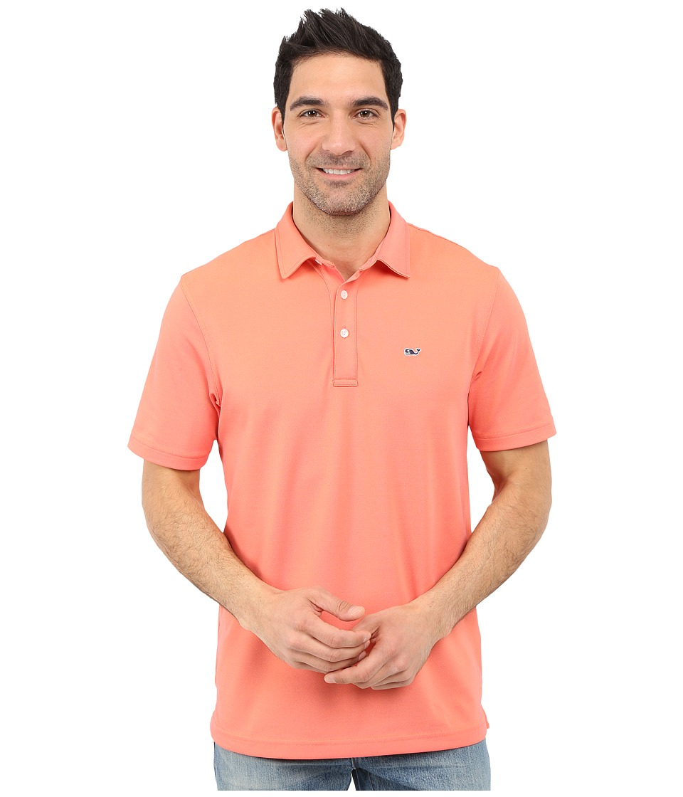 Vineyard Vines - Hanover Pique Performance Polo (Island Sunset) Men's Short Sleeve Pullover