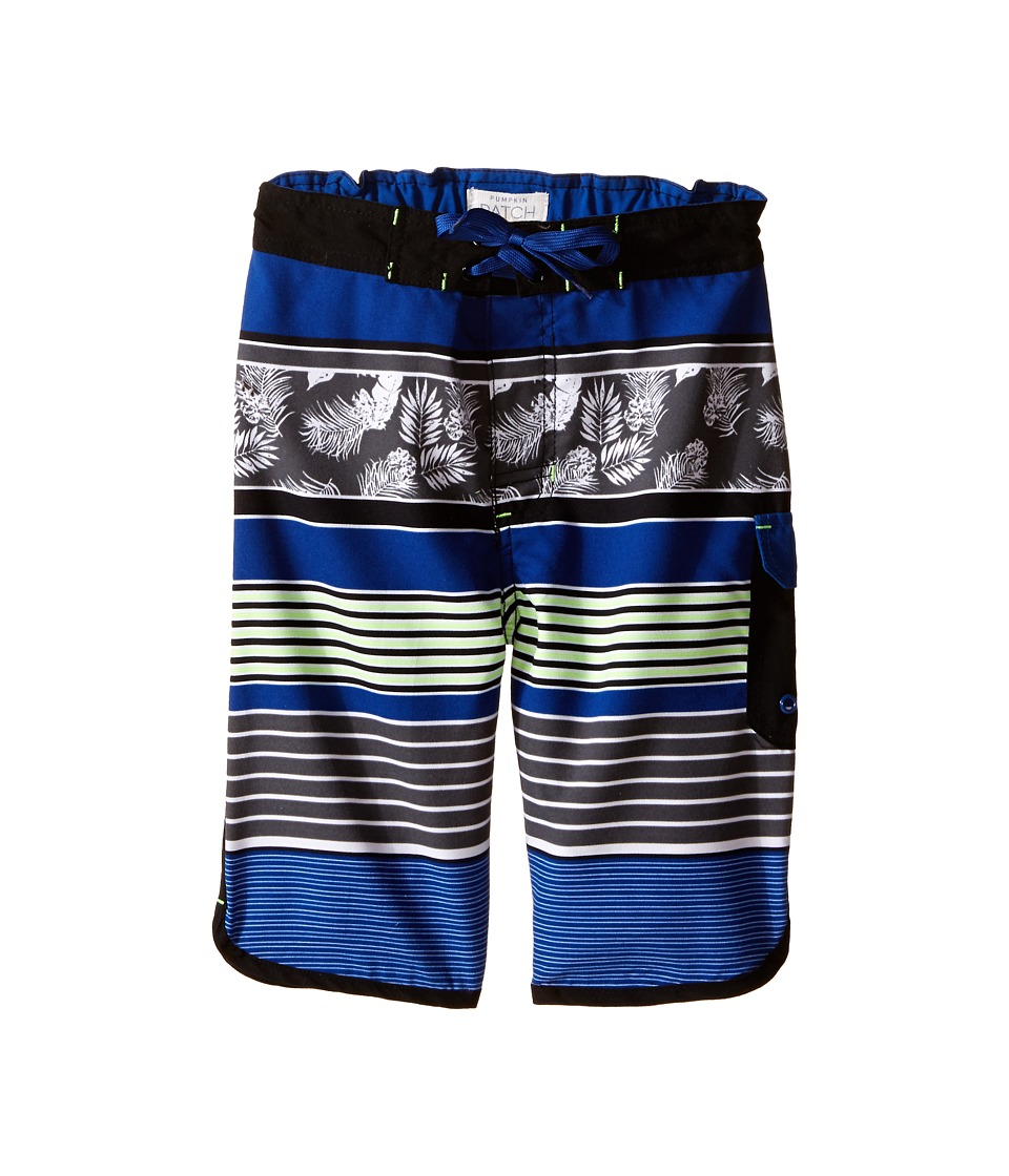 Pumpkin Patch Kids - Striped Boardshorts (Big Kids) (Victory Blue) Boy's Swimwear