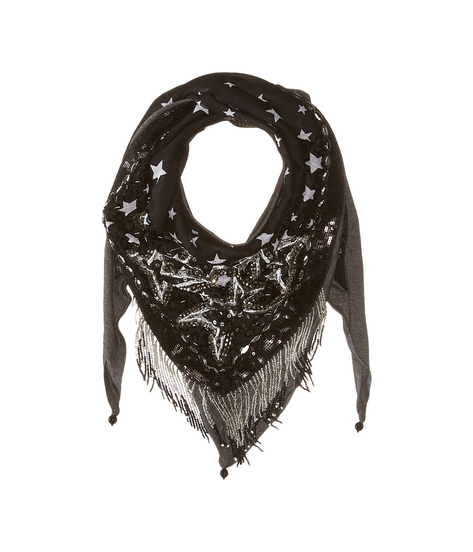Mary Frances - Stellar Scarf (Black/Silvery) Scarves