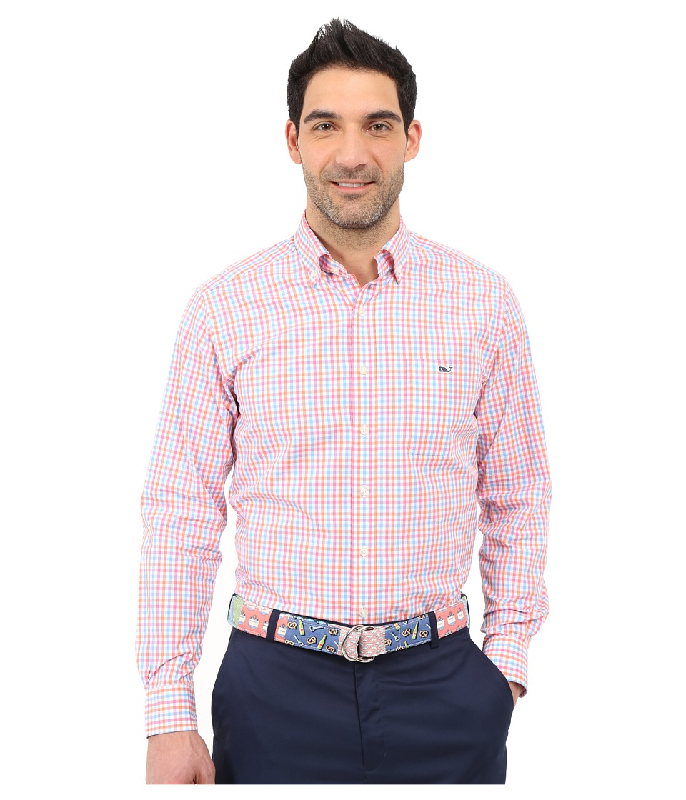 Vineyard Vines - Albert Lake Gingham Slim Tucker Shirt (Island Sunset) Men's Clothing