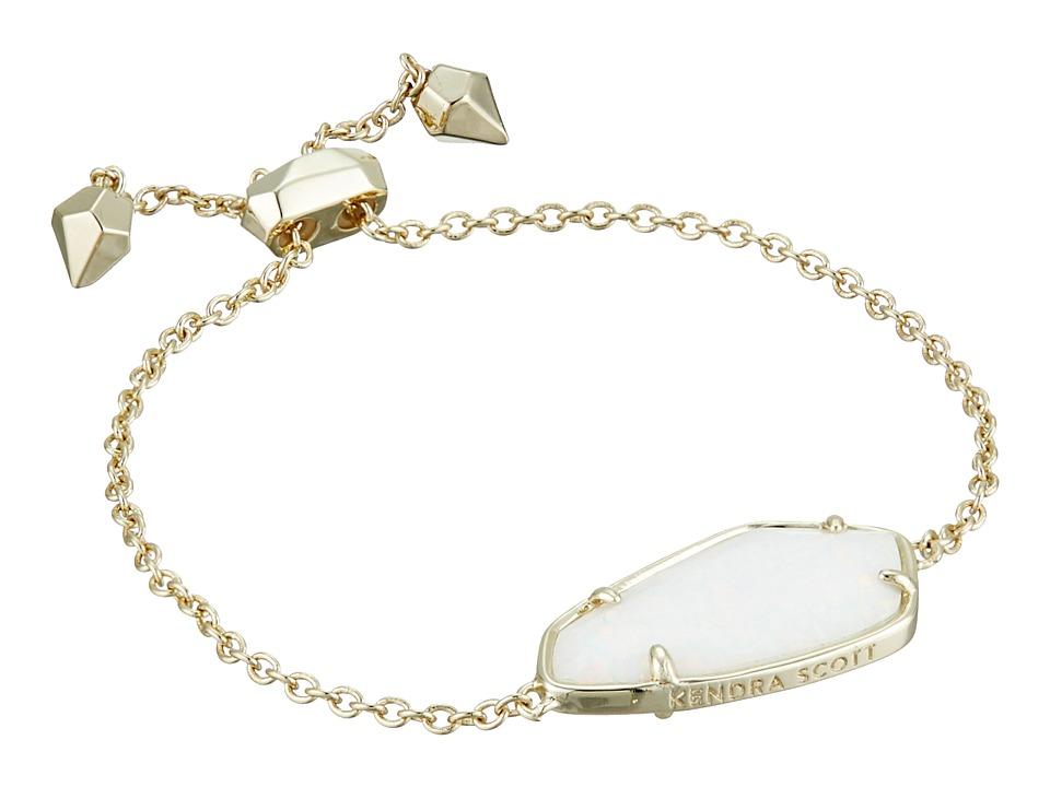 Kendra Scott - Cambel Bracelet (Gold/White Kyocera Opal) Bracelet