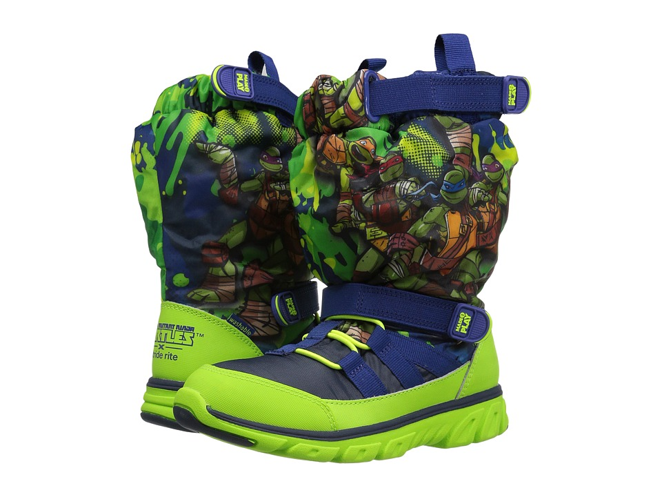 Stride Rite - Made 2 Play TMNT Sneaker Boot (Toddler) (Green Multi) Boy's Shoes