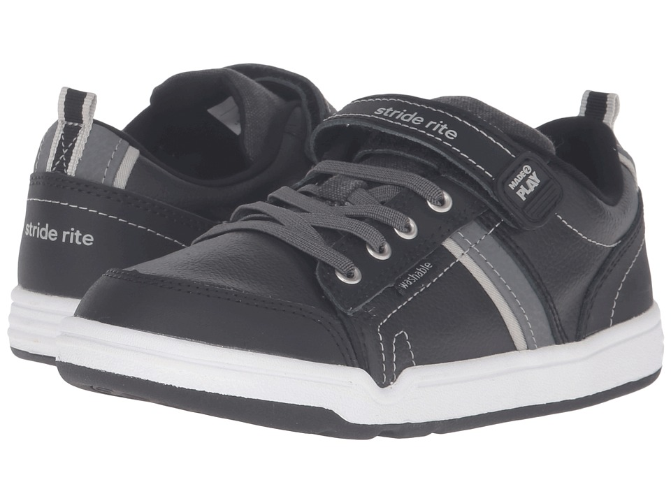 Stride Rite - Made 2 Play Kaleb (Little Kid) (Black) Boys Shoes