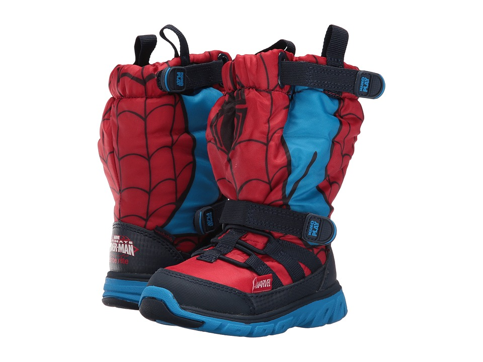 Stride Rite - Made 2 Play Spiderman Sneaker Boot (Toddler) (Red) Boy's Shoes