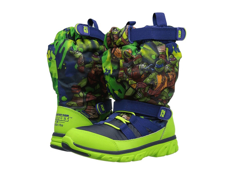 Stride Rite - Made 2 Play TMNT Sneaker Boot (Little Kid) (Green Multi) Boy's Shoes