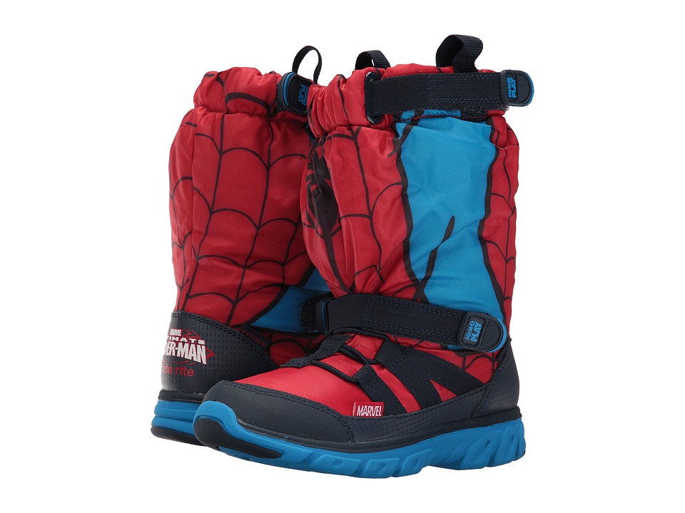 Stride Rite - Made 2 Play Spiderman Sneaker Boot (Little Kid) (Red) Boy's Shoes
