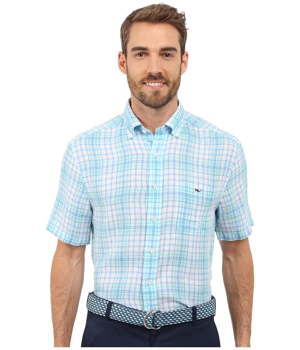 Vineyard Vines - Meads Bay Classic Short Sleeve Tucker Shirt (Marina) Men's Clothing