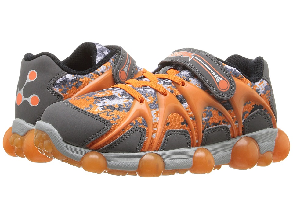 Stride Rite - Leepz (Toddler/Little Kid) (Grey/Orange) Boy's Shoes
