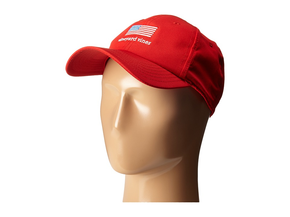 Vineyard Vines - Flag Performance Hat (Lighthouse Red) Caps