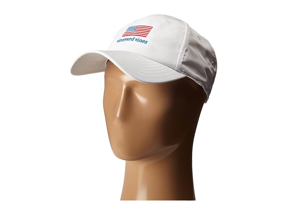 Vineyard Vines - Flag Performance Hat (White Cap) Caps