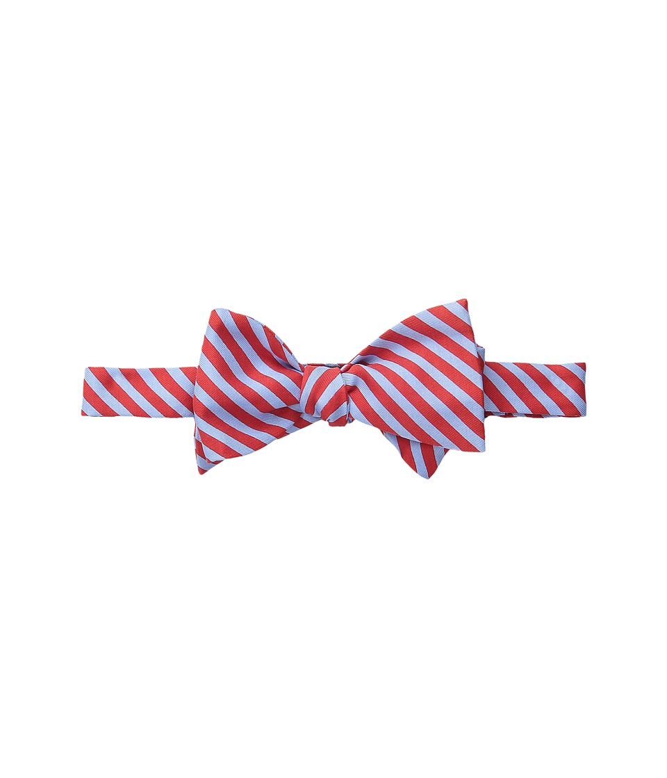 Vineyard Vines - Printed Bow Tie-2 Color Stripe (Lighthouse Red) Ties