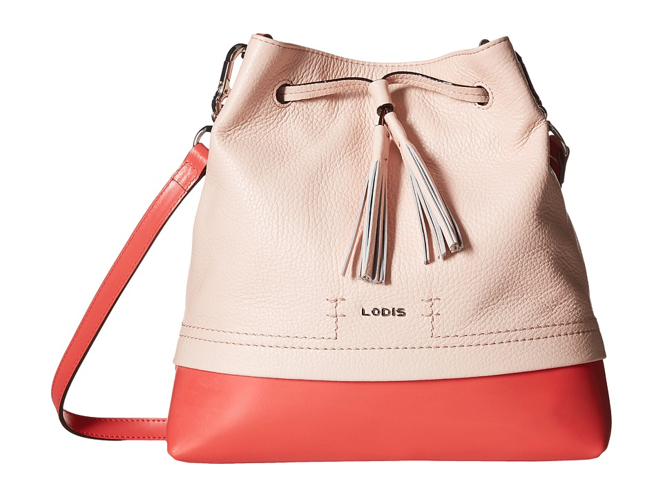 Lodis Accessories - Kate Cara Convertible Drawstring (Coral) Drawstring Handbags