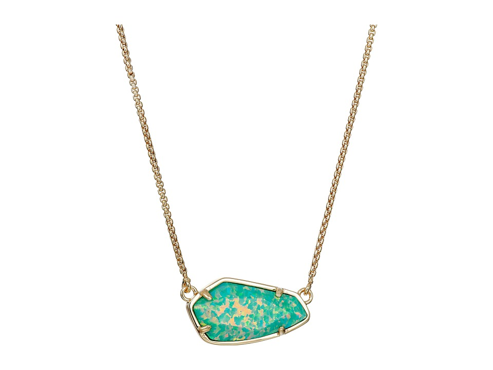 Kendra Scott - Cami Necklace (Gold/Aqua Kyocera Opal) Necklace
