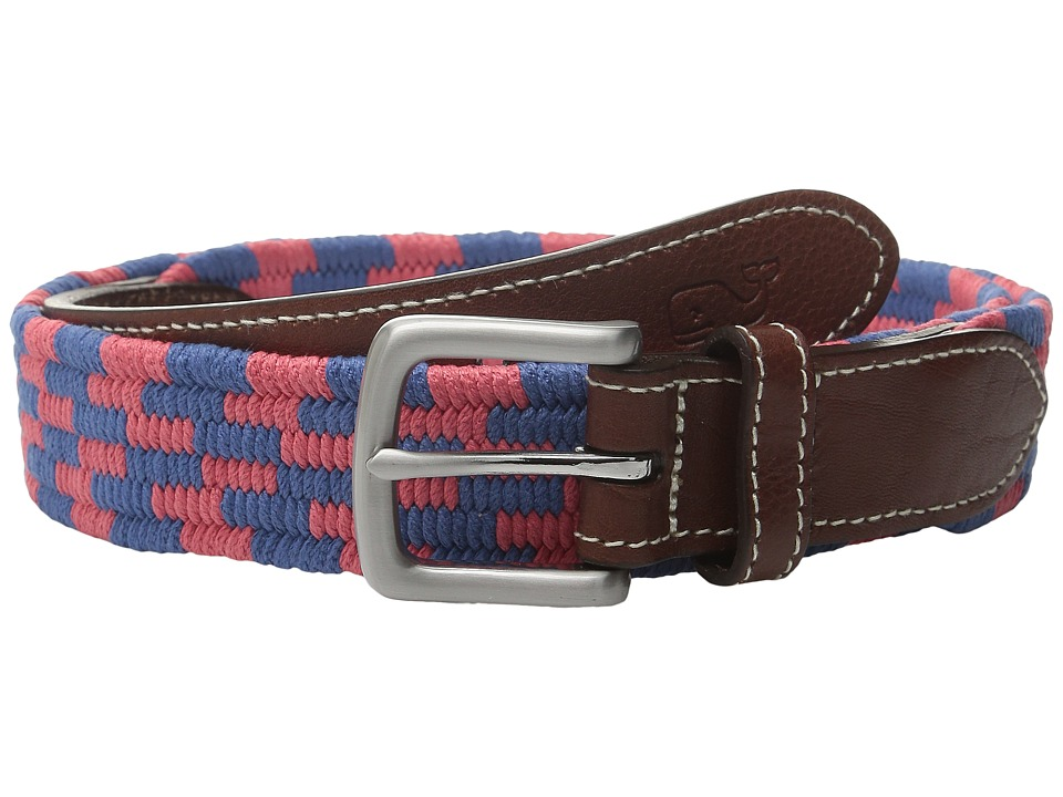 Vineyard Vines - Stacked Bungee Cord Belt (Jetty Red) Men's Belts