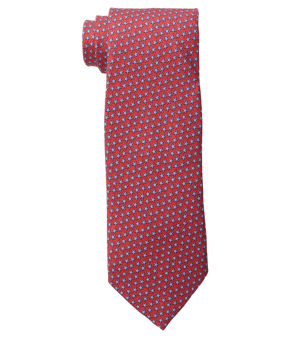 Vineyard Vines - Printed Tie-Starfish Stars (Lighthouse Red) Ties