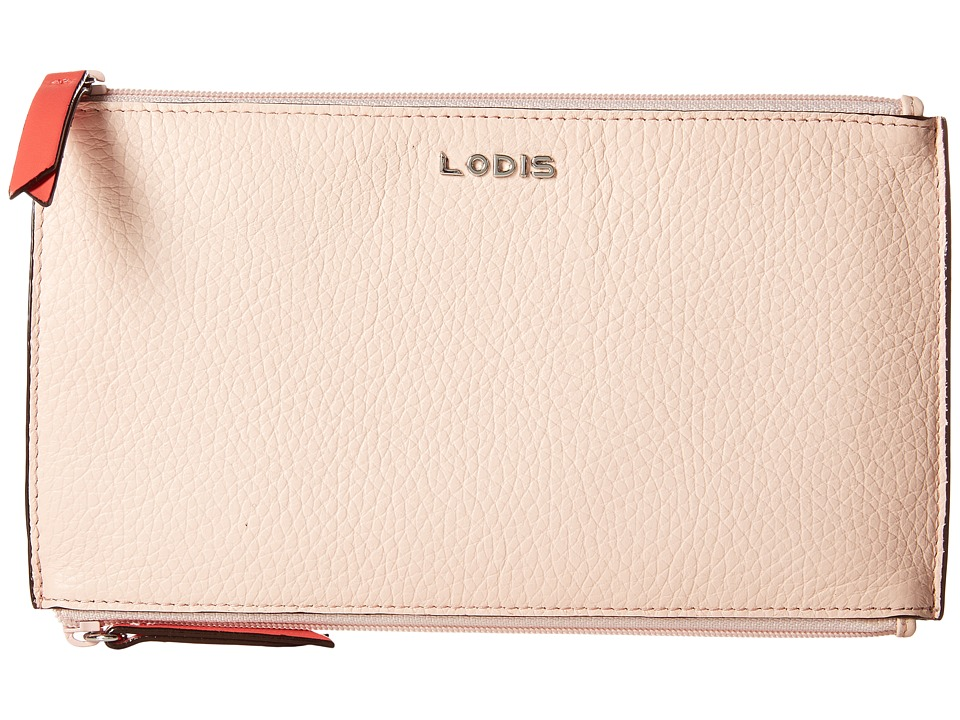 Lodis Accessories - Kate Lani Double Zip Pouch (Coral) Wallet Handbags