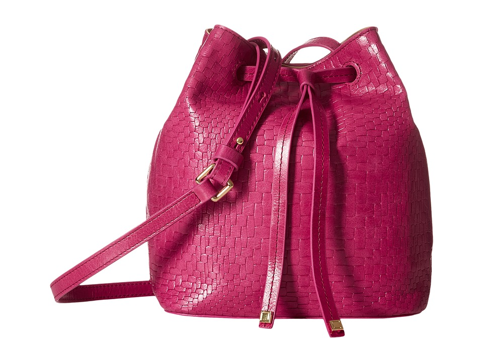 Lodis Accessories - Palma Blake Small Drawstring Bag (Fuchsia) Drawstring Handbags