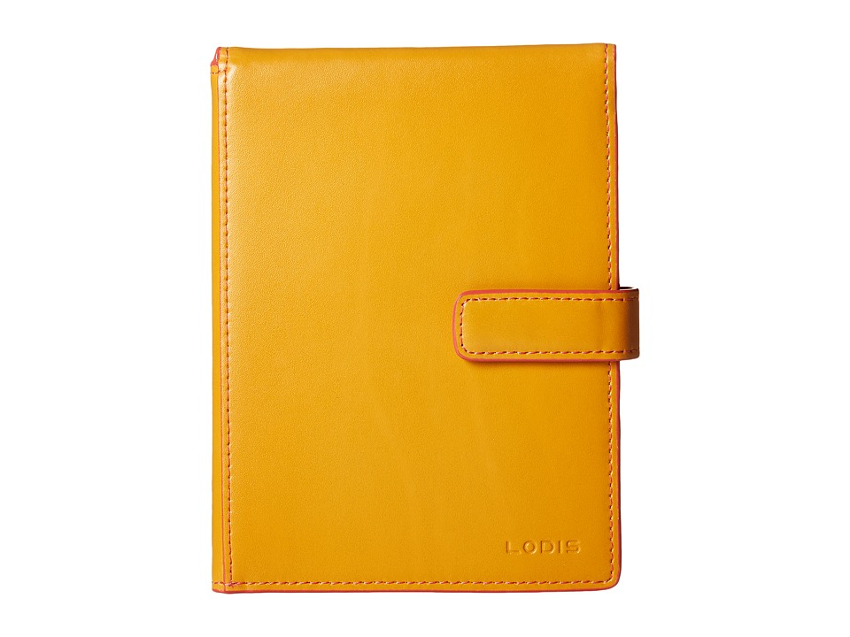 Lodis Accessories - Audrey Passport Wallet w/ Ticket Flap (Maize/Coral) Checkbook Wallet