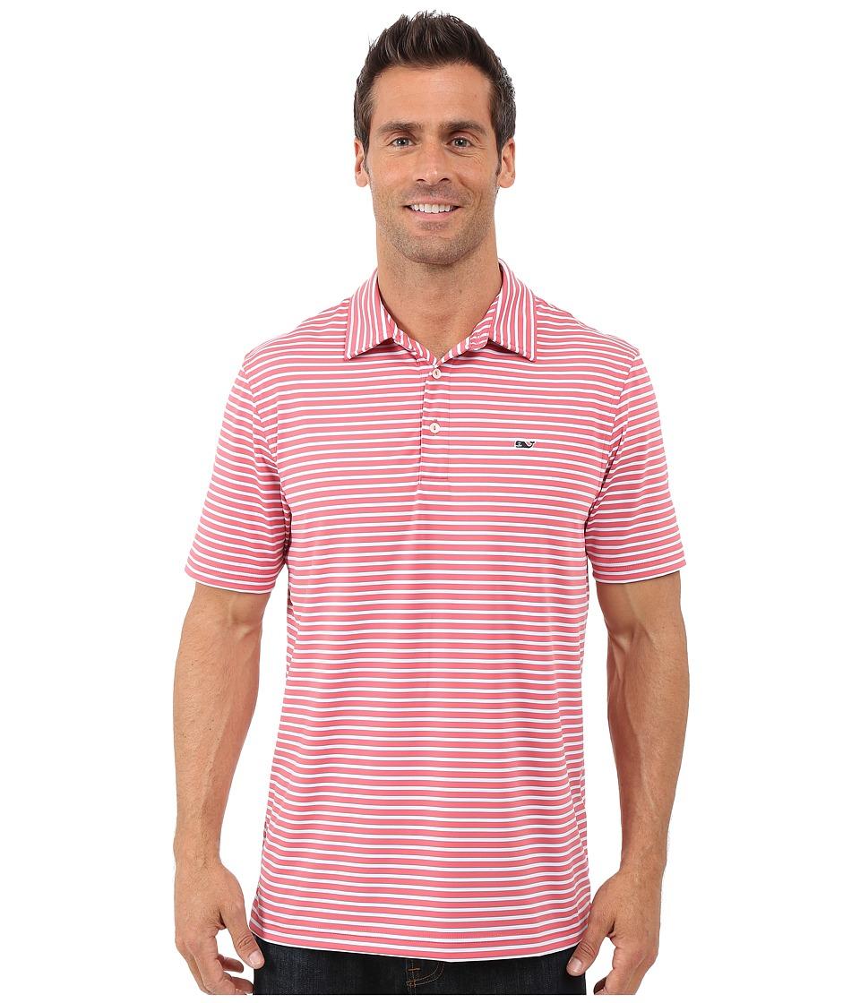 Vineyard Vines - Jive Stripe Polo (Lobster Reef) Men's Short Sleeve Knit