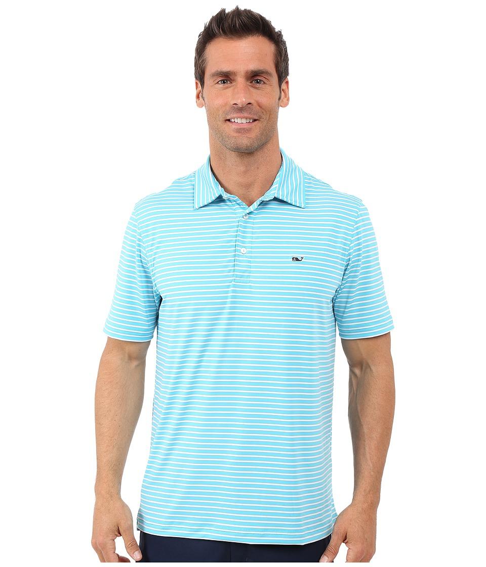 Vineyard Vines - Jive Stripe Polo (Turquoise) Men's Short Sleeve Knit