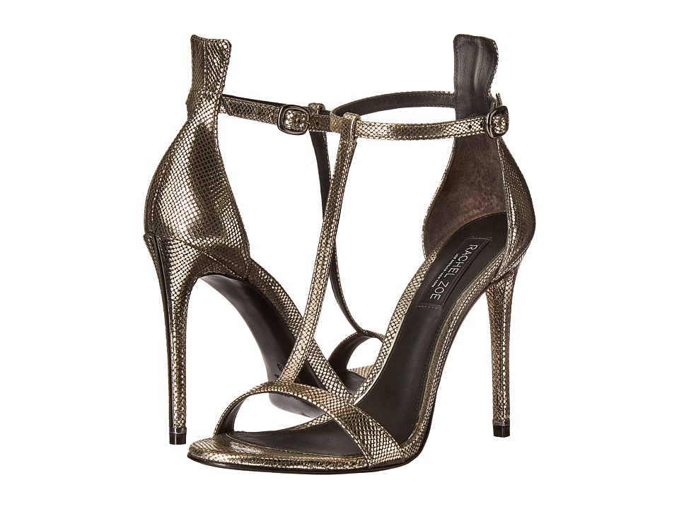 Rachel Zoe Tee (Dark Pewter Metallic Snake) High Heels