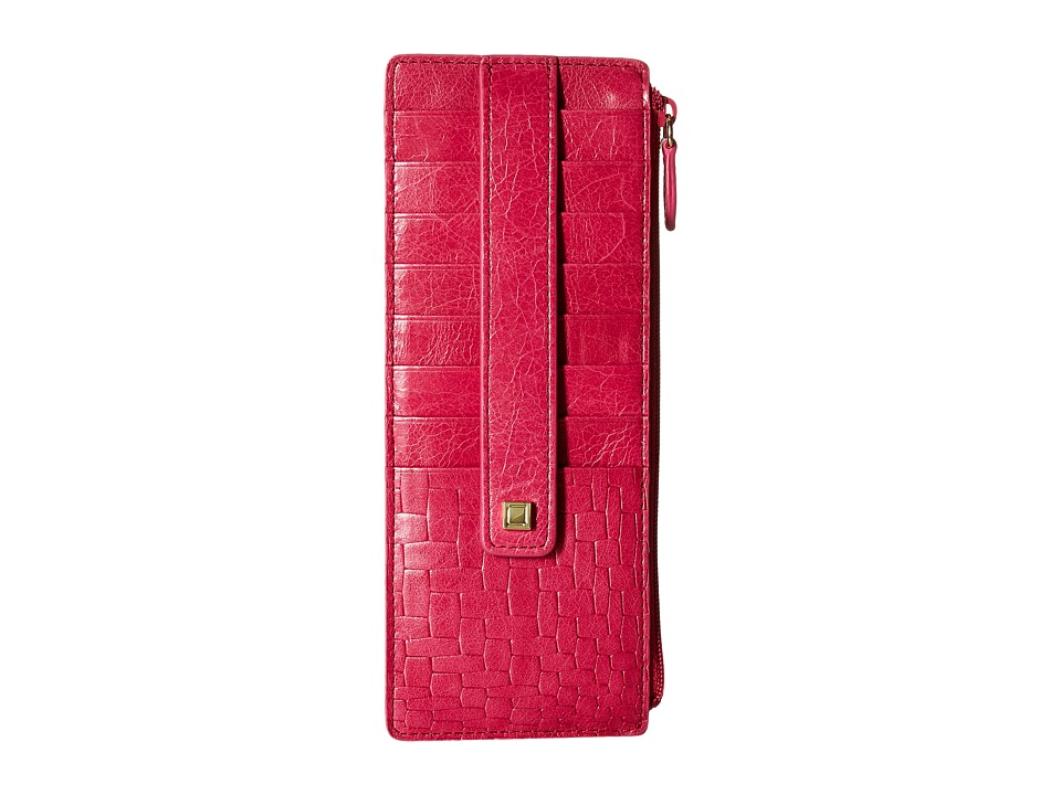 Lodis Accessories - Palma Credit Card Case w/ Zipper Pocket (Fuchsia) Credit card Wallet