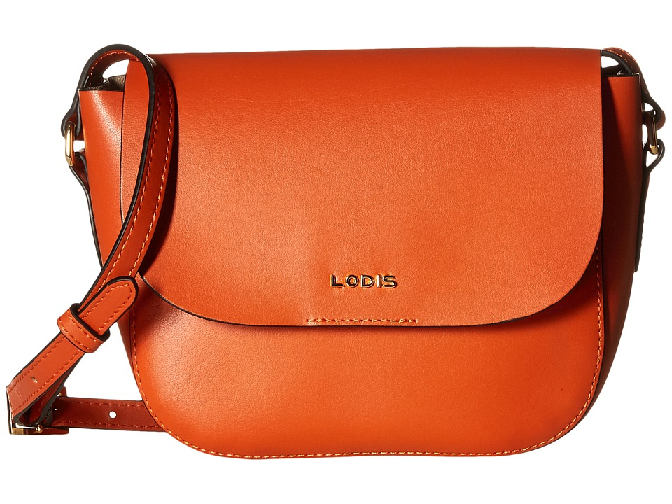 Lodis Accessories - Blair Bailey Crossbody (Papaya/Taupe) Cross Body Handbags