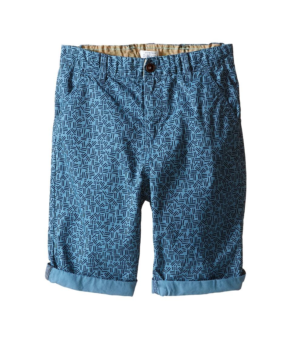 Pumpkin Patch Kids - Plain Blue Shorts (Big Kids) (Anchor Blue) Boy's Shorts