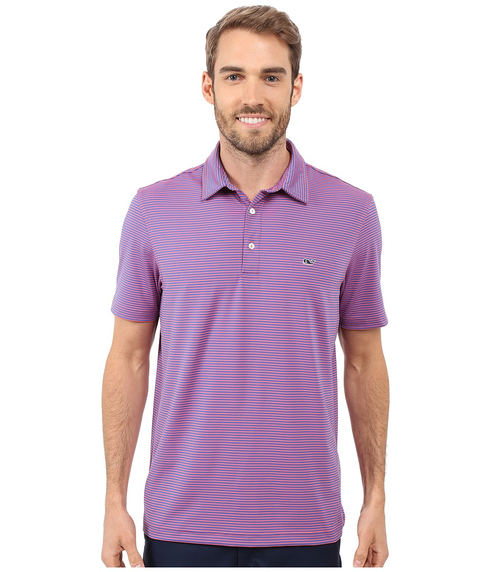Vineyard Vines - Starboard Stripe Polo (Lobster Reef) Men's Clothing