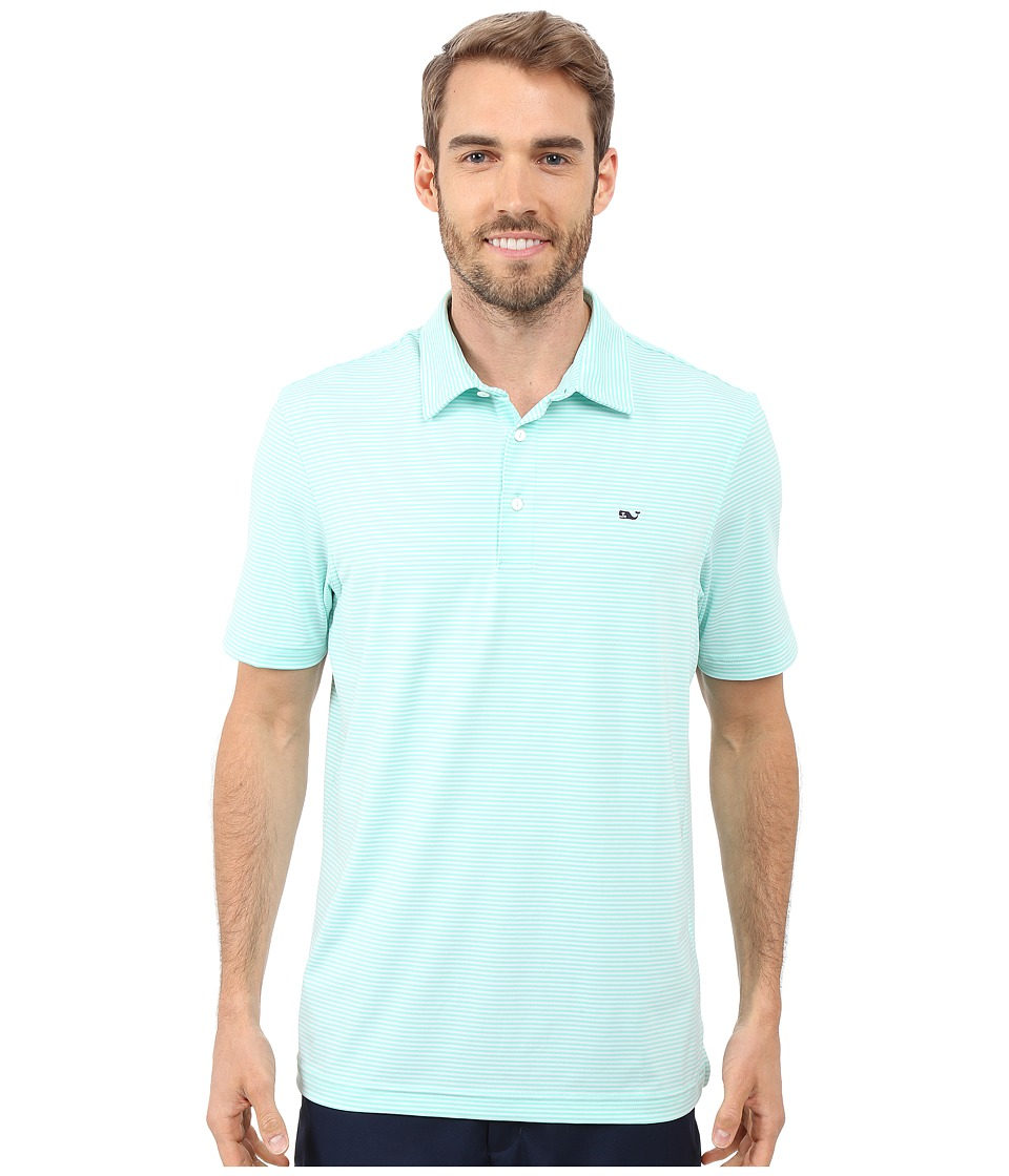 Vineyard Vines - Starboard Stripe Performance Polo (Marina) Men's Clothing