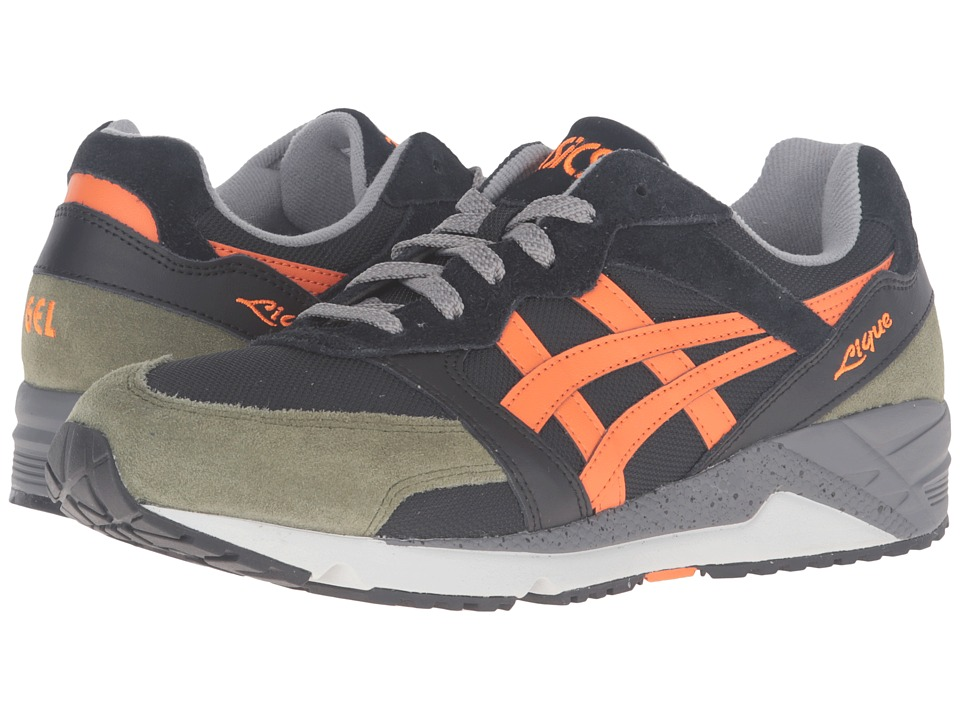 Onitsuka Tiger by Asics - Gel-Lique (Black/Orange) Athletic Shoes