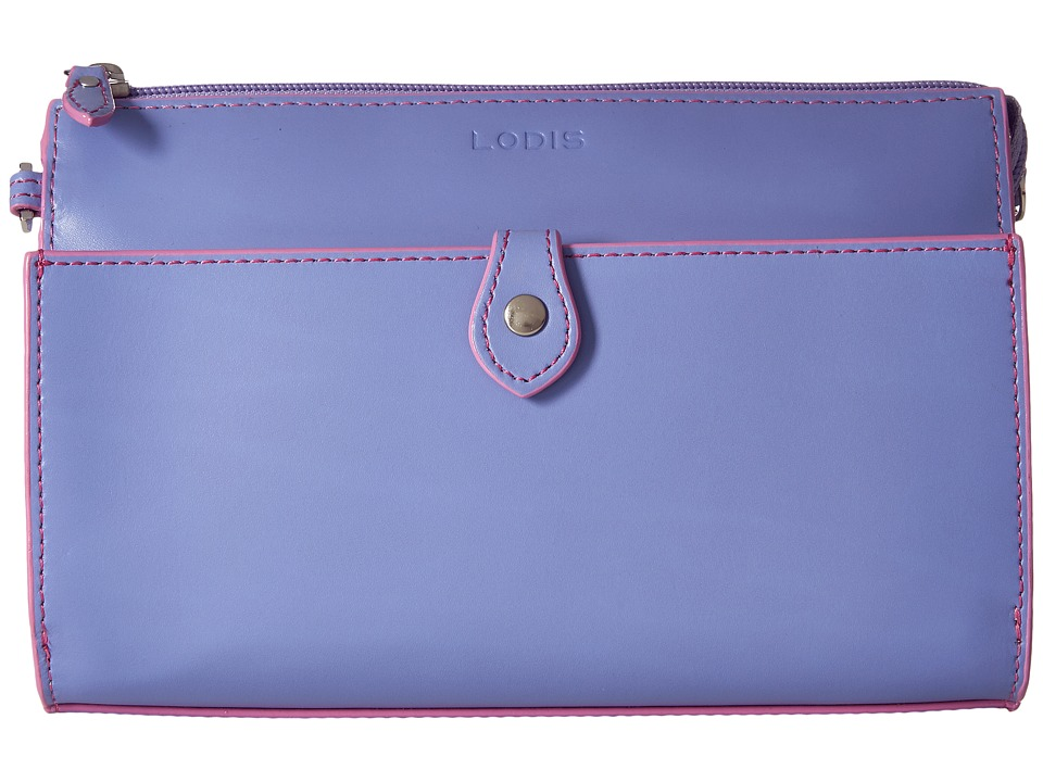 Lodis Accessories - Audrey Vicky Convertible Crossbody Clutch (Lilac/Rose) Clutch Handbags