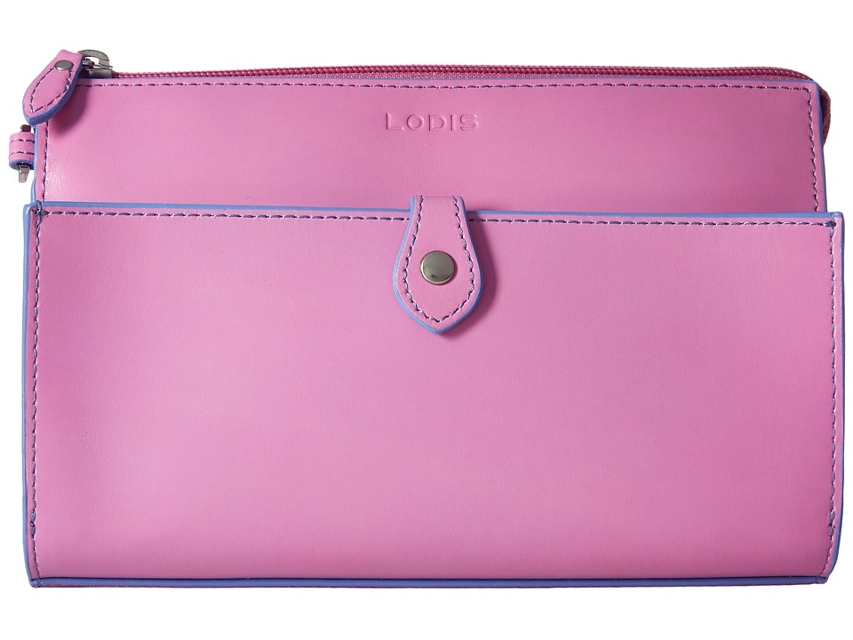 Lodis Accessories - Audrey Vicky Convertible Crossbody Clutch (Rose/Lilac) Clutch Handbags