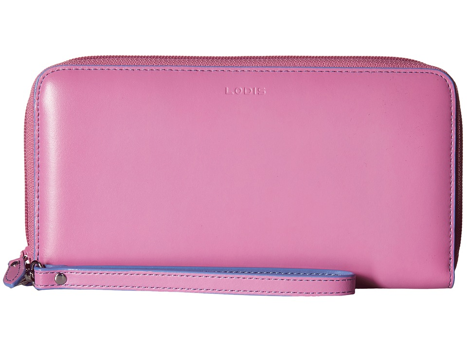 Lodis Accessories - Audrey Vera Wristlet Wallet (Rose/Lilac) Wallet Handbags