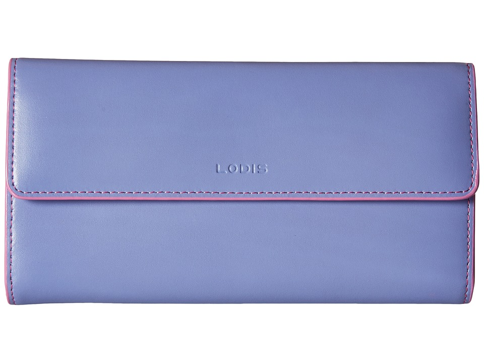 Lodis Accessories - Audrey Checkbook Clutch (Lilac/Rose) Wallet Handbags